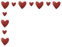 Frontera del corazón de la tarjeta del día de San Valentín Fotos de archivo libres de regalías
