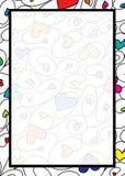 Frontera del corazón de Swirly en formato del vector ilustración del vector