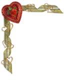 Frontera del corazón del caramelo de la tarjeta del día de San Valentín Fotos de archivo libres de regalías