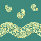 Frontera 2 del cordón ilustración del vector