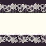 Frontera del cordón del vintage, fondo inconsútil stock de ilustración
