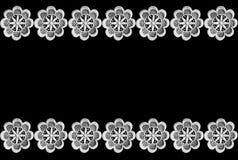 Frontera del cordón en negro Imagen de archivo libre de regalías