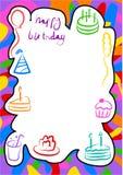 Frontera del cumpleaños ilustración del vector