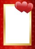 Frontera del día de tarjeta del día de San Valentín Fotos de archivo libres de regalías