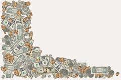 Frontera del dinero fotografía de archivo libre de regalías