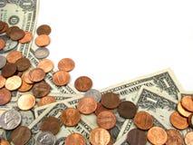 Frontera del dinero Imagen de archivo