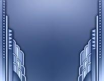 Frontera del edificio de Deco stock de ilustración