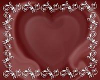 Frontera del extracto del corazón de la tarjeta del día de San Valentín Imagen de archivo
