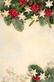 Frontera del extracto del fondo de la Navidad Imagen de archivo