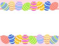 Frontera del fondo de la foto del huevo de Pascua Fotos de archivo libres de regalías