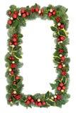 Frontera del fondo de la Navidad imagen de archivo