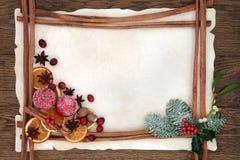 Frontera del fondo de la Navidad Imagen de archivo libre de regalías