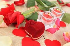 Flor del día de tarjeta del día de San Valentín imagenes de archivo