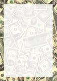 Frontera del fondo del dinero Foto de archivo libre de regalías