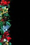 Frontera del gardland de la Navidad Fotografía de archivo libre de regalías