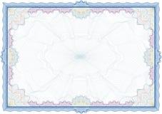 Frontera del guilloquis para el diploma o el certificado Imagen de archivo
