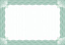 Frontera del guilloquis para el diploma o el certificado Foto de archivo libre de regalías