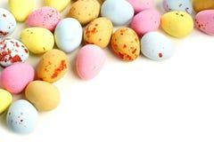 Frontera del huevo de Pascua del caramelo Fotografía de archivo libre de regalías