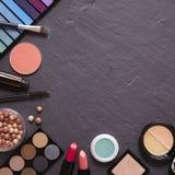 Frontera del maquillaje imagen de archivo