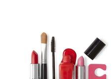 Frontera del maquillaje - blanco Imagenes de archivo