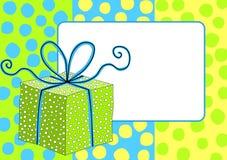 Frontera del marco de caja de regalo Fotos de archivo libres de regalías