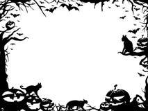 Frontera del marco de Halloween aislada en blanco Imagen de archivo