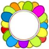 Frontera del marco de la flor de papel stock de ilustración