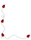 Frontera del marco del Ladybug stock de ilustración