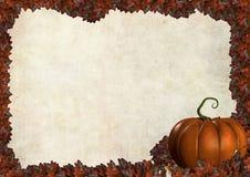 Frontera del marco del otoño de Víspera de Todos los Santos con las hojas Imágenes de archivo libres de regalías
