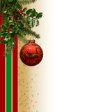 Frontera del ornamento de la Navidad Fotos de archivo