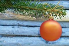 Frontera del ornamento de la Navidad Fotografía de archivo