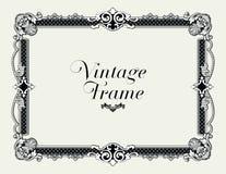 Frontera del ornamento del vintage Vector floral decorativo del marco Fotos de archivo libres de regalías