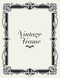 Frontera del ornamento del vintage Vector floral decorativo del marco Fotografía de archivo