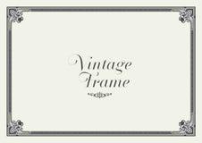 Frontera del ornamento del vintage Vector floral decorativo del marco Foto de archivo libre de regalías