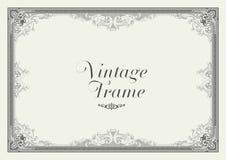 Frontera del ornamento del vintage Vector floral decorativo del marco Imagenes de archivo