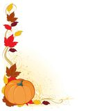 Frontera del otoño de la calabaza Fotos de archivo libres de regalías