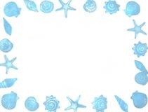 Frontera del Seashell Imagen de archivo libre de regalías