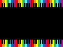 Frontera del teclado de piano del arco iris Fotografía de archivo libre de regalías