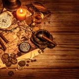 Frontera del tesoro de los piratas Imagen de archivo libre de regalías