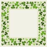 Frontera del trébol - diseños del día de St Patrick Foto de archivo libre de regalías