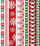 Frontera del vector de la Navidad Imágenes de archivo libres de regalías