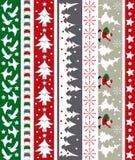 Frontera del vector de la Navidad Imagen de archivo