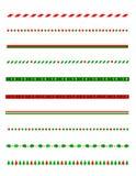 Frontera/divisor de la Navidad Fotografía de archivo libre de regalías