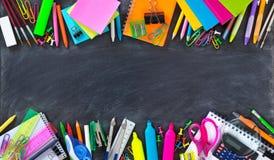 Frontera doble de la escuela y de los materiales de oficina Fotos de archivo libres de regalías