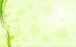 Frontera ecológica abstracta con las plantas Imagenes de archivo