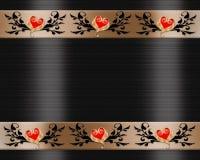 Frontera elegante de la invitación negra del satén Fotografía de archivo