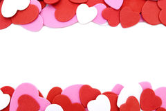 Frontera en forma de corazón del confeti Imagen de archivo libre de regalías