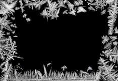 Frontera escarchada Imagenes de archivo