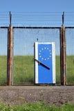 Frontera europea simbólica Imagenes de archivo