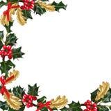 Frontera festiva de la Navidad Imagenes de archivo
